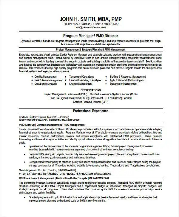 Manager Resume sample Templates - 43+ Free Word, PDF Documents - sample information management resume