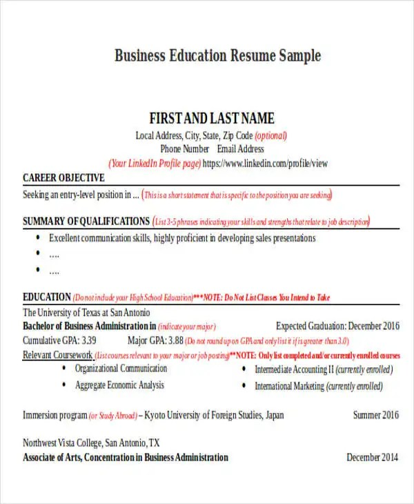 14+ Education Resumes in Word Free  Premium Templates