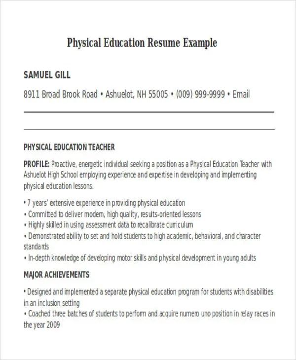 physical education resume node2003-cvresumepaasprovider - physical education resume