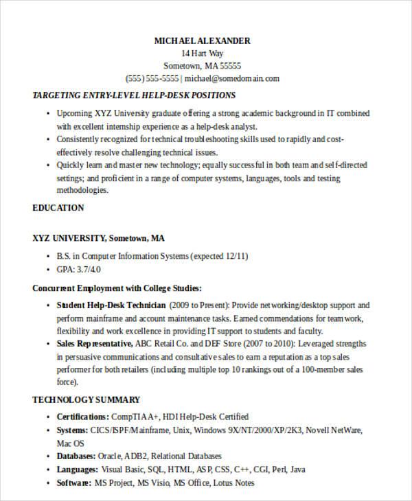 entry level help desk resume template billybullock us