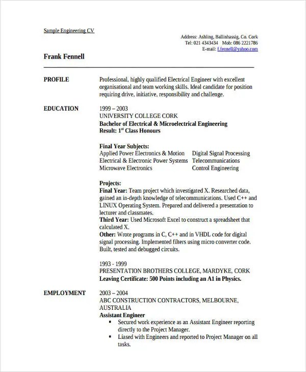 Sales Telecommunications Resume