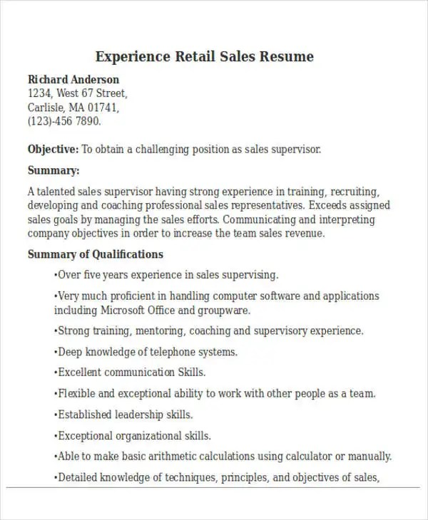 Best Sales Resume Free  Premium Templates - sales resume skills