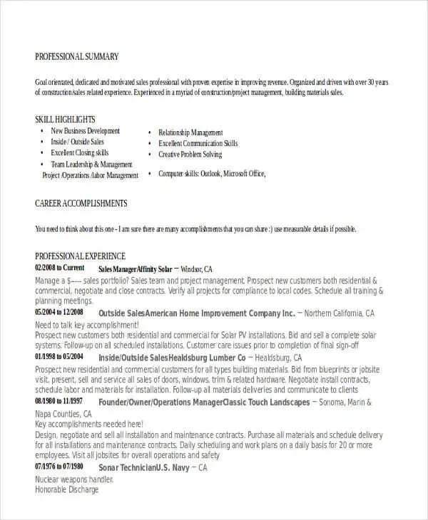 food sales manager resume catering sales manager resume objective