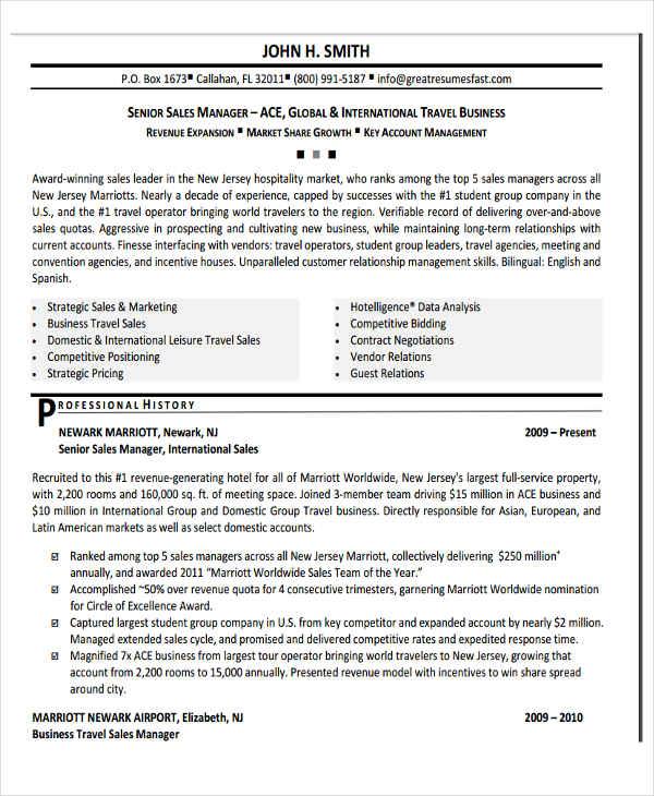 30+ Basic Sales Resume Templates - PDF, DOC Free  Premium Templates