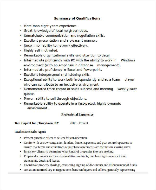 41 sales resume templates free premium templates real estate sales resume - Sales Resume Templates