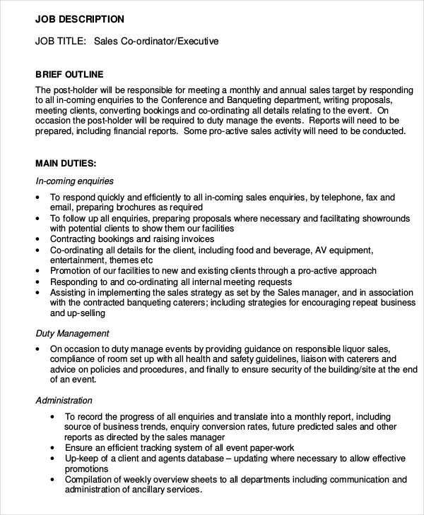 30+ Sales Resume Templates - PDF, DOC Free  Premium Templates - sales coordinator resume