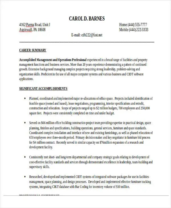 20+ Sales Resume Samples - PDF, DOC Free  Premium Templates