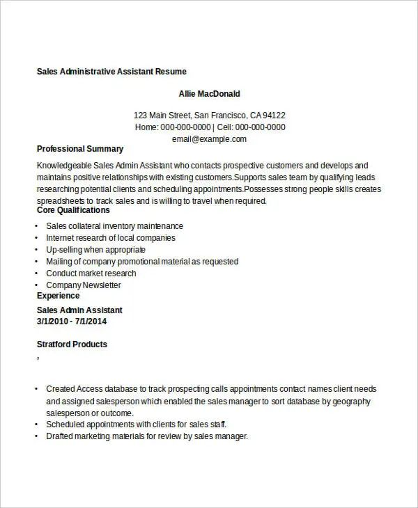 administrative professional resumes