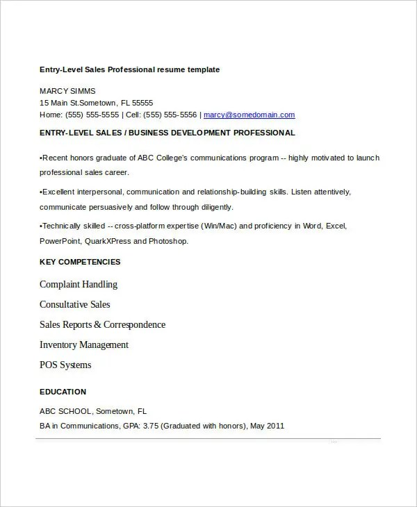 8+ Sample Sales Assistant Resumes - Free Sample, Example Format