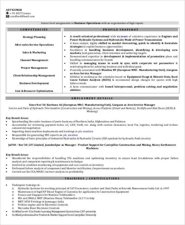 19+ Sales Resume Templates - PDF, DOC Free  Premium Templates