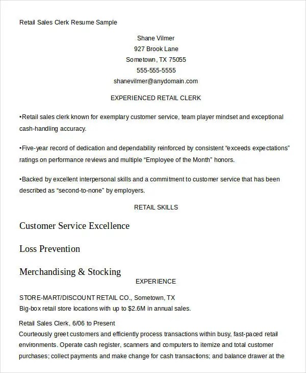 Sales Resume Template - 24+ Free Word, PDF Documents Download Free