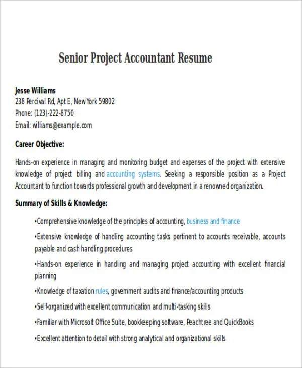 33+ Accountant Resumes in Doc Free  Premium Templates - Financial Accountant Resumes