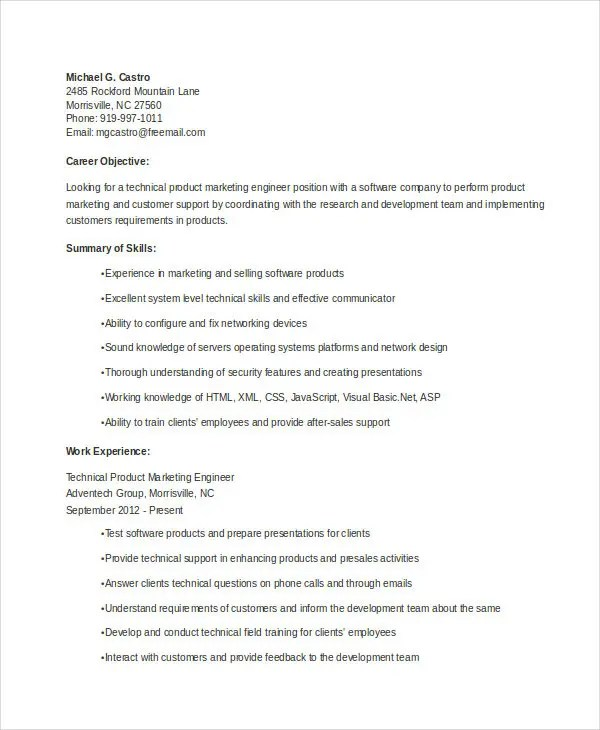 22+ Marketing Resume Templates in Word Free  Premium Templates