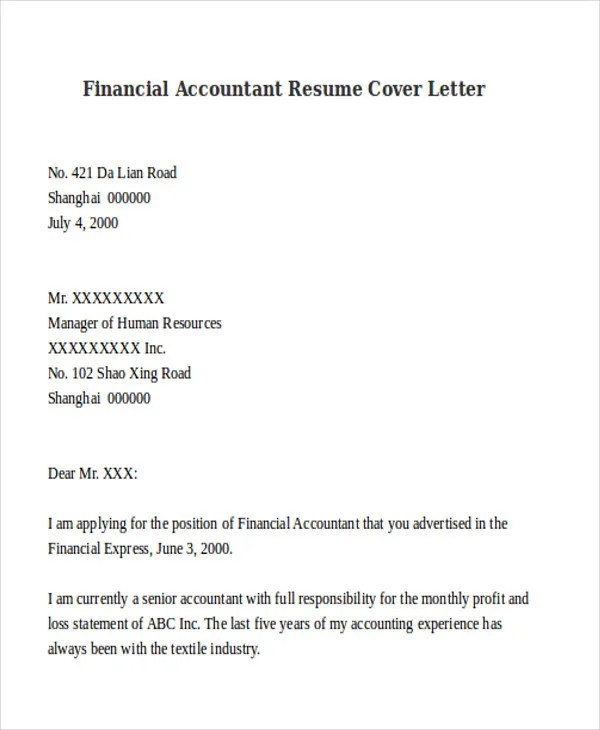 Accountant Resume Cover Letter | kicksneakers.co