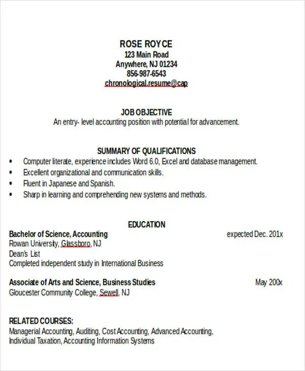 33+ Accountant Resumes in Doc Free  Premium Templates - resume for accounting job