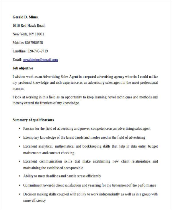 30+ Printable Sales Resume Templates - PDF, DOC Free  Premium
