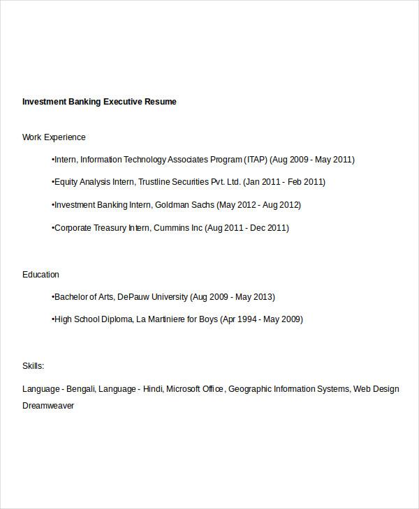 investment banking resumes - Josemulinohouse - investment banking associate sample resume