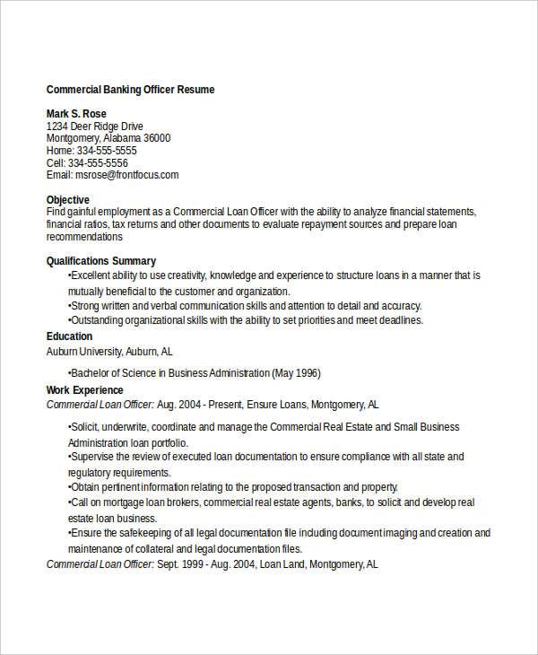 14+ Banking Resume Templates in Word Free  Premium Templates - banking loan resume