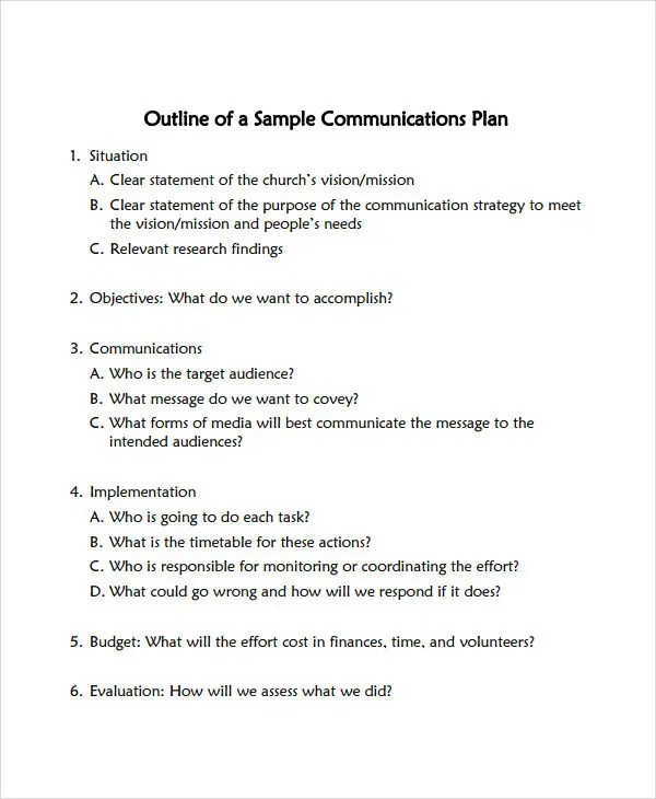 Free Communication Plan Templates - 37+ Free Word, PDF Documents