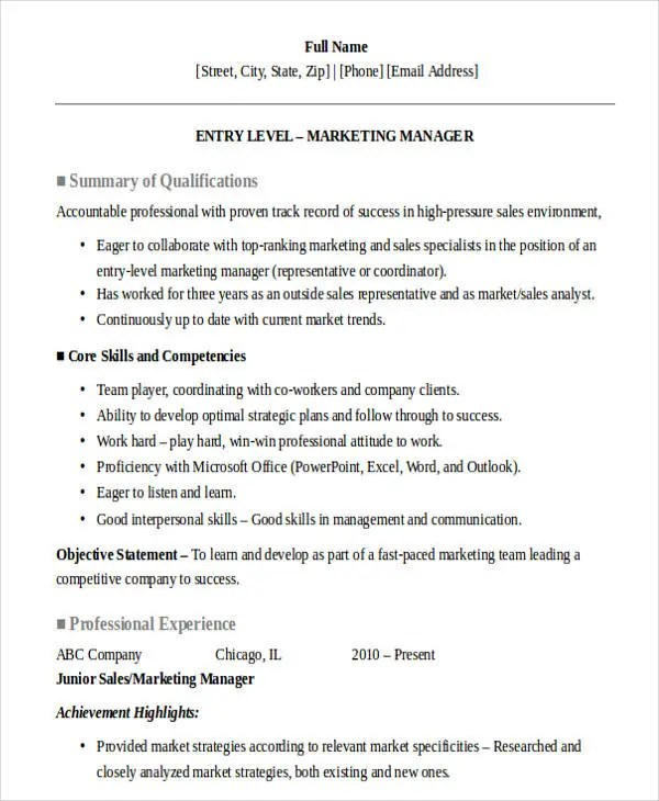 30+ Sales Resume Design Templates - PDF, DOC Free  Premium Templates - marketing and sales resume