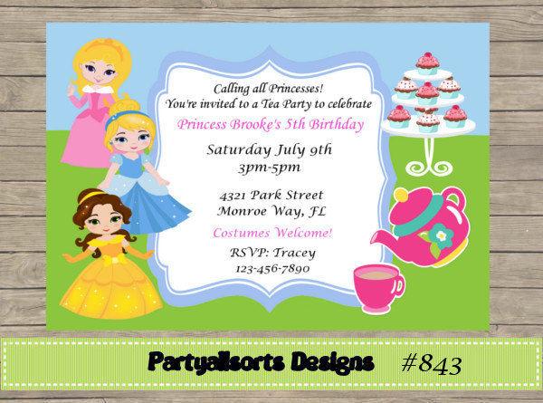 tea party birthday invites