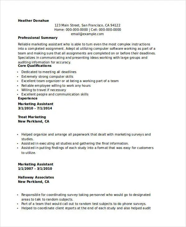 Marketing Resume Examples - 47+ Free Word, PDF Documents Download