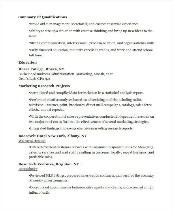23+ Marketing Resume Templates Free  Premium Templates - trade marketing specialist sample resume