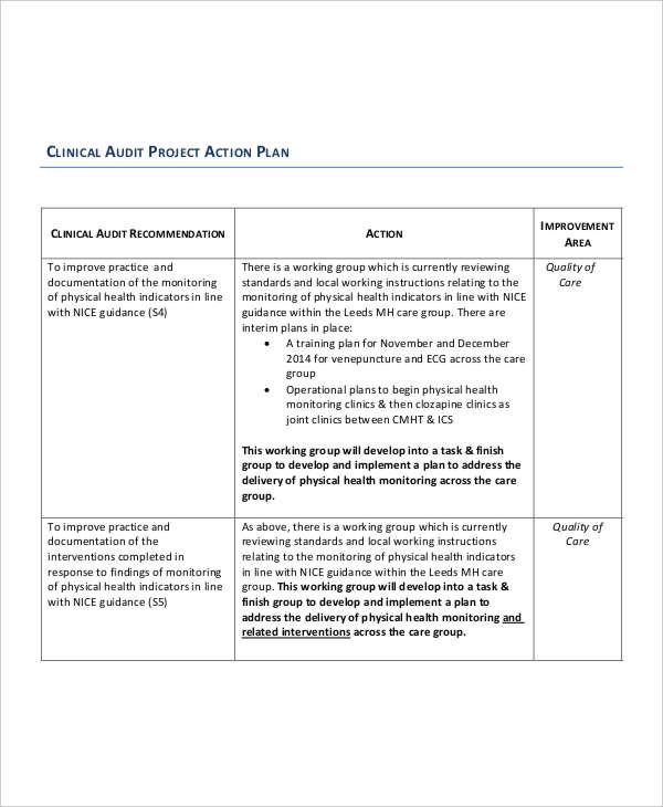 31+ Action Plan - Free Word, PDF Documents Download Free  Premium