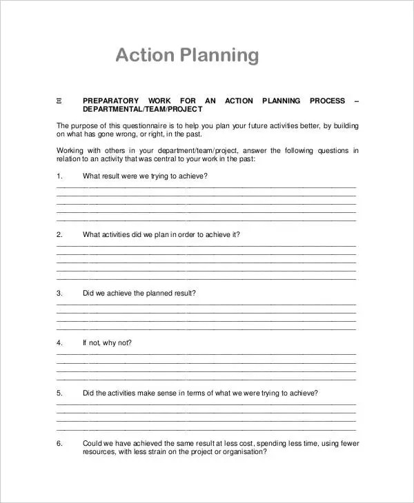 31+ Action Plan - Free Word, PDF Documents Download Free  Premium - plan of action template project management