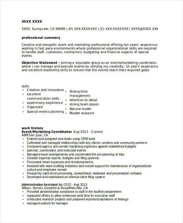 45+ Marketing Resume Templates - PDF, DOC Free  Premium Templates