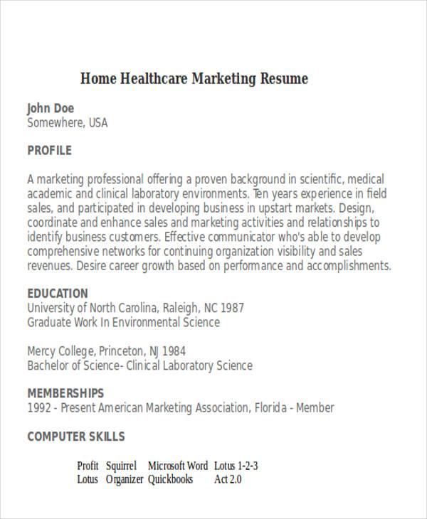 medical marketing resume - Onwebioinnovate - medical marketing resume
