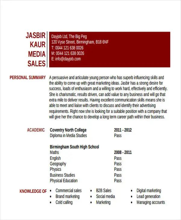 entry level resume template download