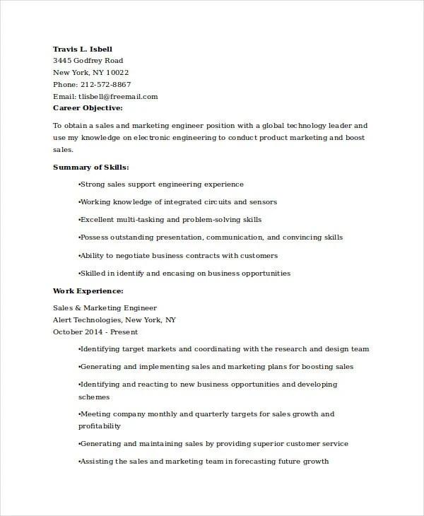 15+ Free Marketing Resume Templates - PDF, DOC Free  Premium