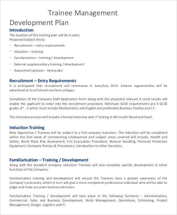 35+ Development Plan Sample Free  Premium Templates