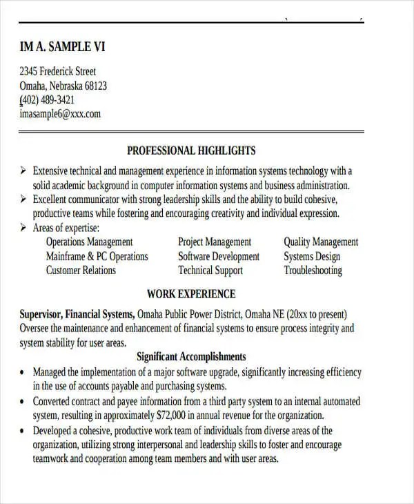 15+ IT Resume Templates - PDF, DOC Free  Premium Templates