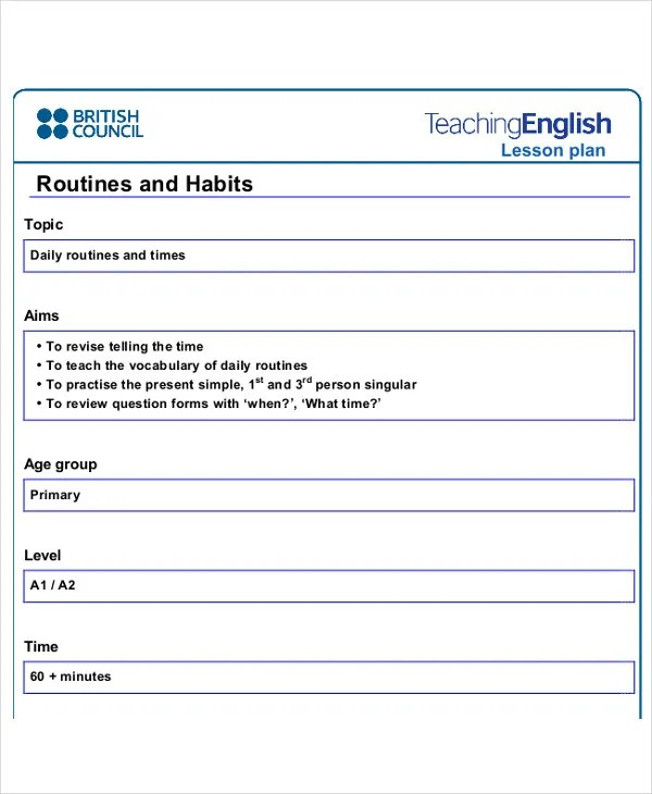 Daily Lesson Plan Template Daily MultiSubject Lesson Plan Template - daily lesson plan template