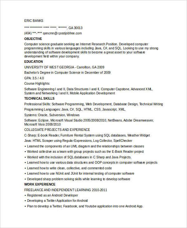 entry level programmer resumes - Josemulinohouse - entry level it resume