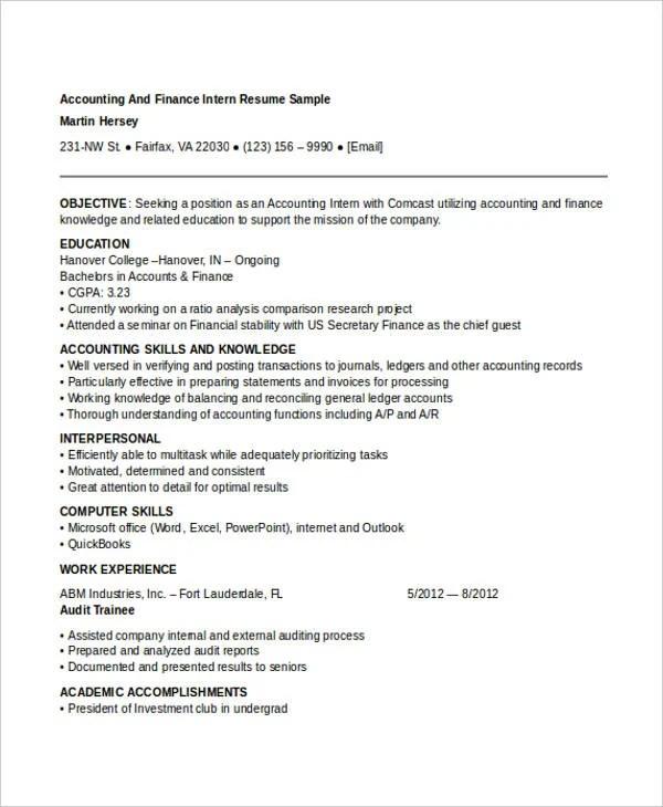22+ Best Finance Resume Templates - PDF, DOC Free  Premium Templates - resume template finance