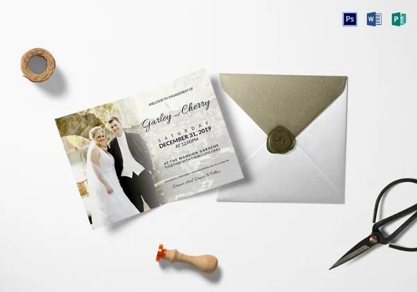 Engagement invitation format jobsbillybullockus – Engagement Invitation Templates Free Printable