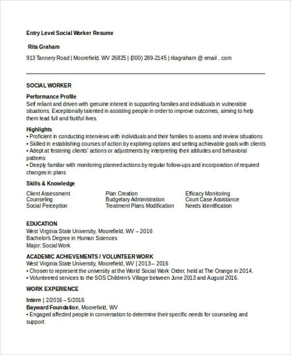 30+ Work Resume Templates in PDF Free  Premium Templates