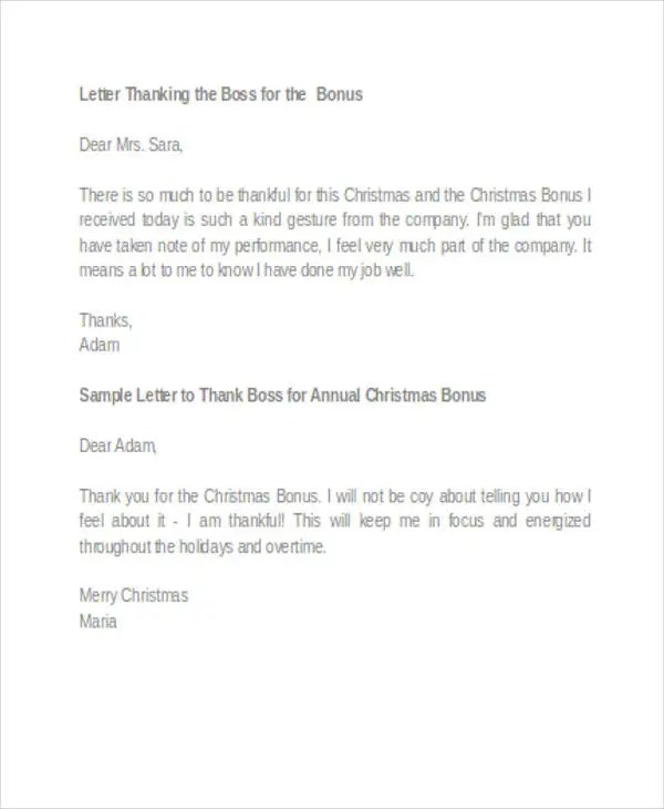 45+ Thank You Letter Example Templates Free  Premium Templates