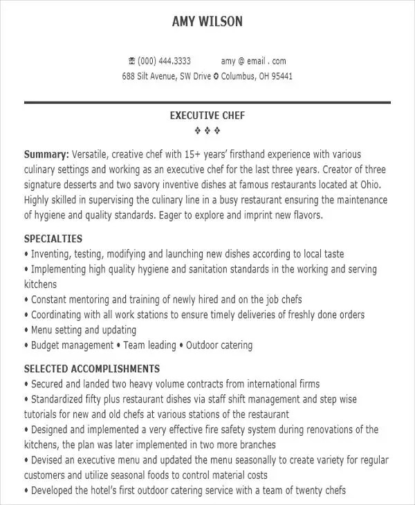 32+ Modern Executive Resume Templates Free  Premium Templates