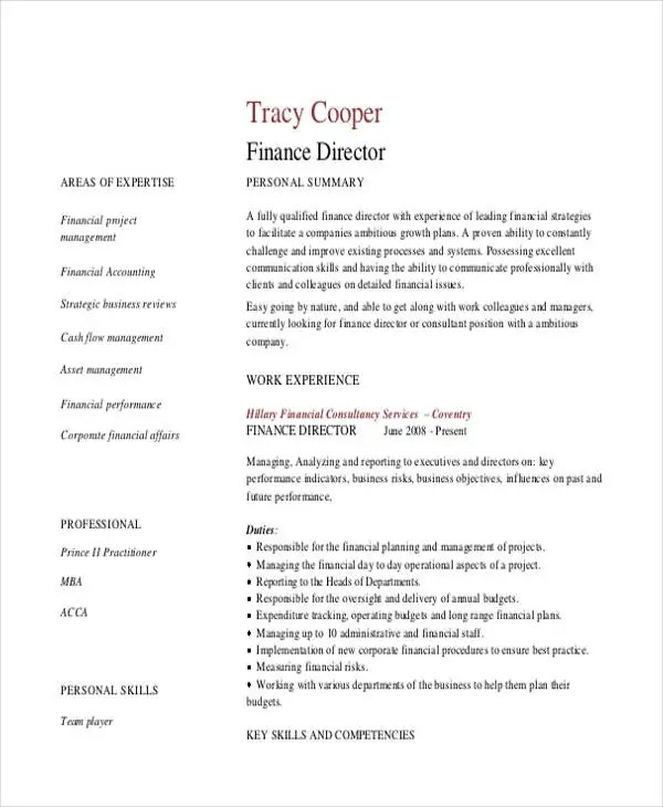 100+  Director Finance Resume  Unforgettable Assistant - director of finance resume