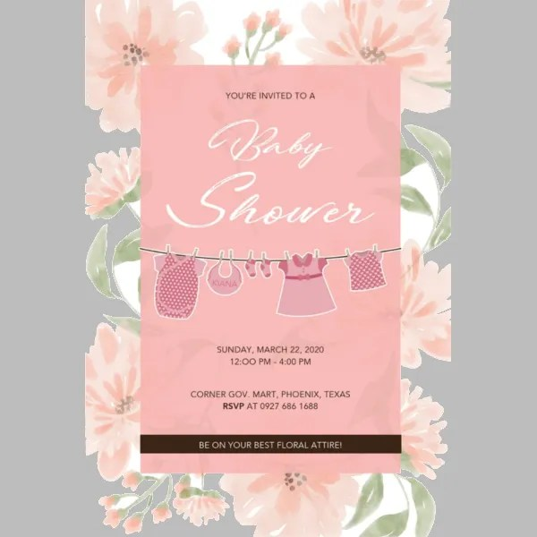 53+ Unique Baby Shower Invitations Free  Premium Templates