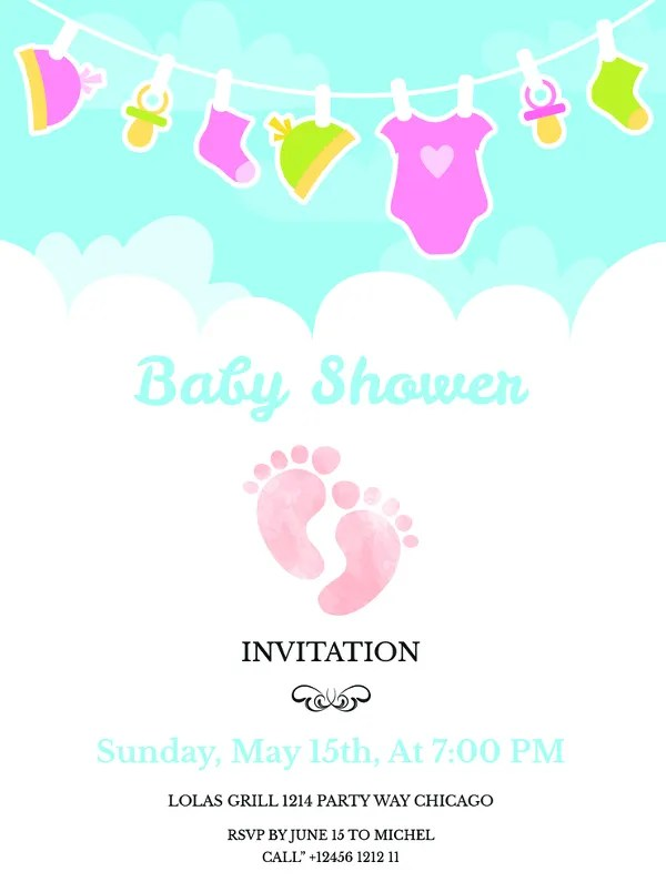 38+ Printable Baby Shower Invitations - PSD, AI Free  Premium