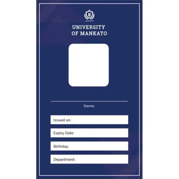 40+ Blank ID Card Templates - PSD, Ai, Vector EPS, DOC Free - free id badge templates