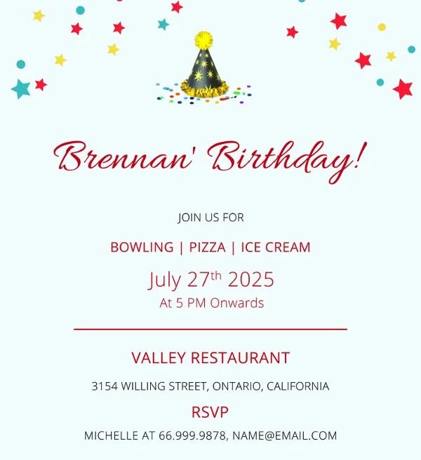 31+ Examples of Birthday Invitation Designs- PSD, AI Free