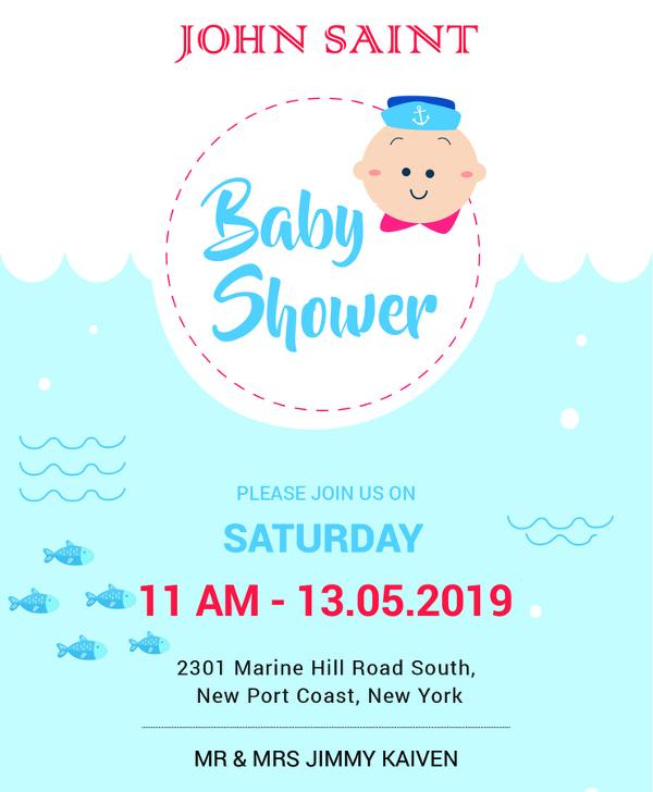 59+ Unique Baby Shower Invitations Free  Premium Templates - free baby shower invitation template