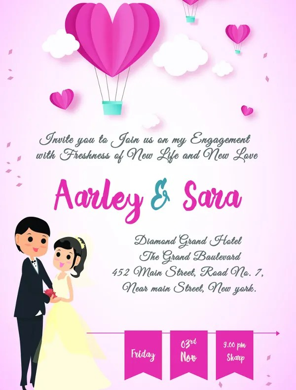 20+ Free Engagement Invitations -Free PSD,Vector AI,EPS Format - engagement invites templates free