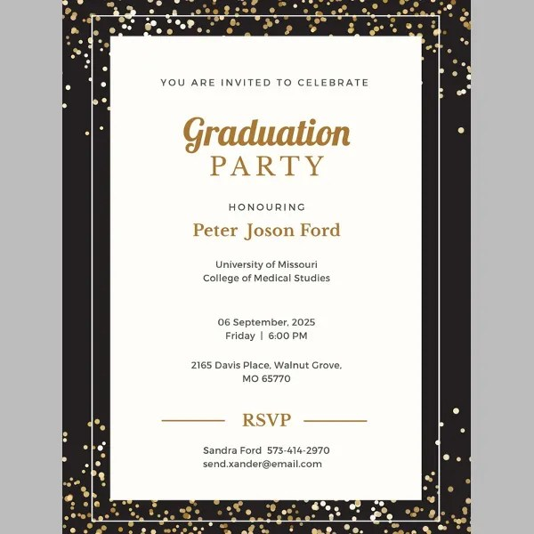 43+ Printable Graduation Invitations Free  Premium Templates - free printable invitations graduation